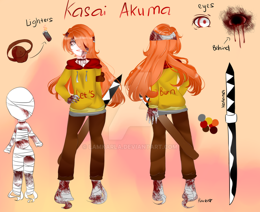 Creepypasta Oc : Kasai Akuma by LamKarla