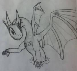 Aqua dragon sketch/concept
