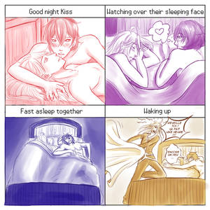 Couple meme : Kyoki and Alyosha