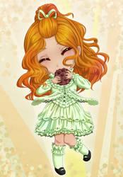 Chibi Meiko and cookie