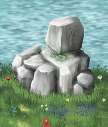 Juste some stone