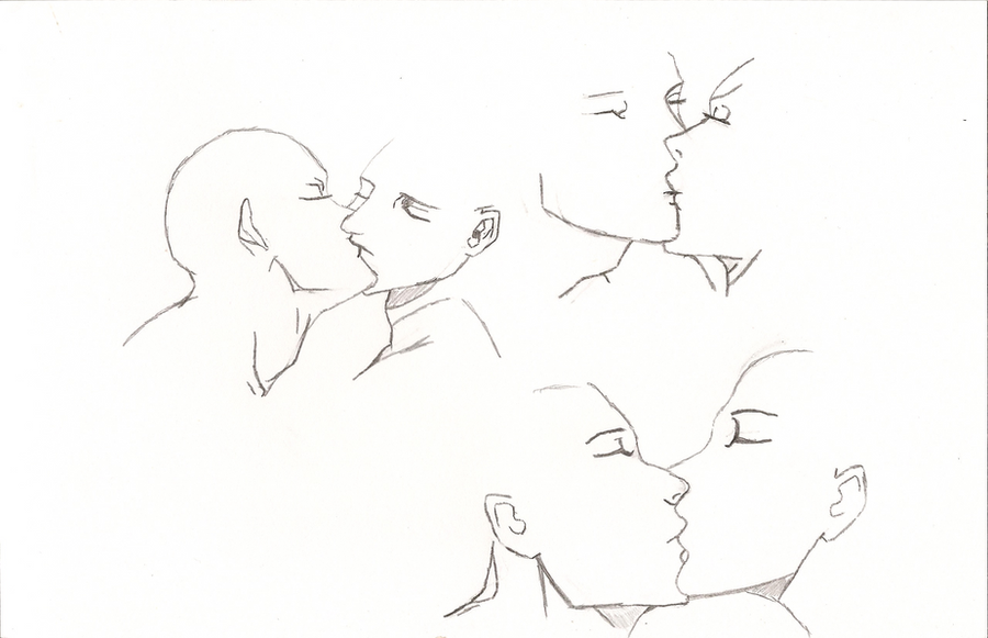 Anime Kiss Pose