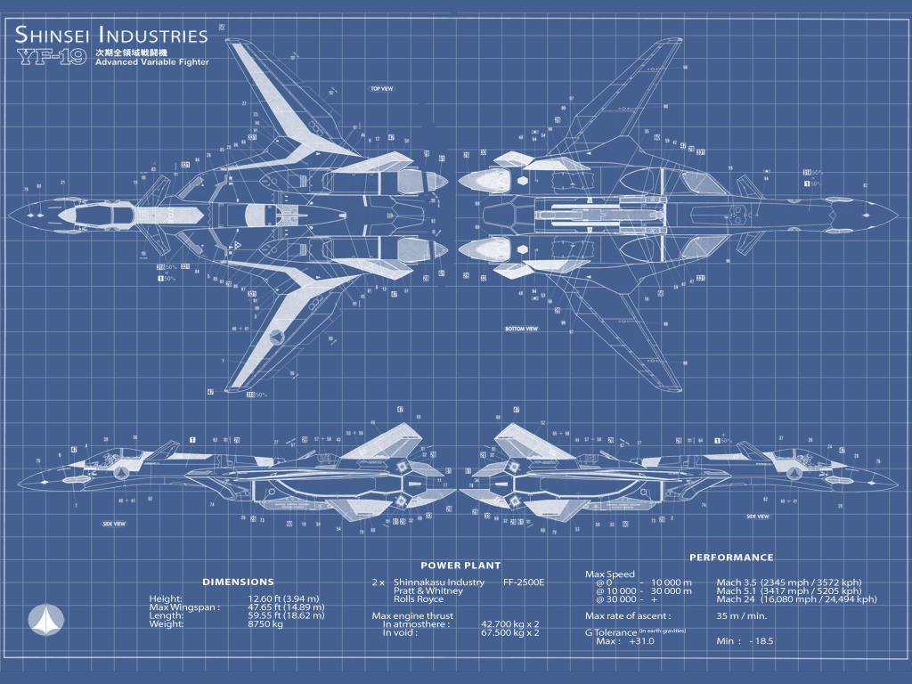 Yf 19 Blueprint By Kone On Deviantart