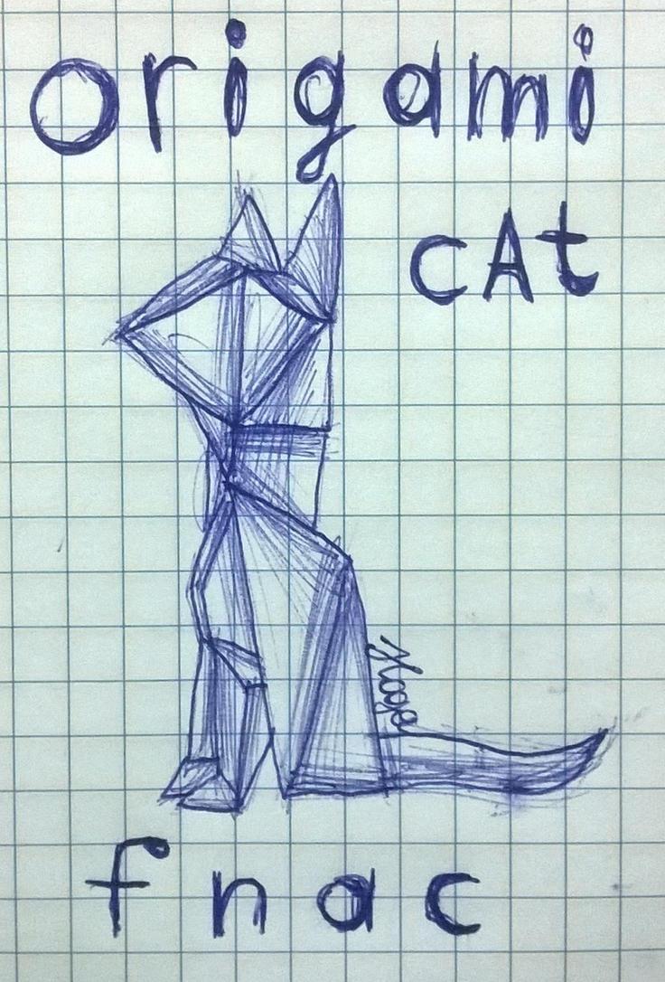 Origami Cat Fnac Art By Hame1eoshaYTrus