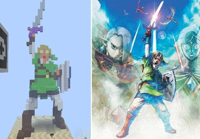 Skyward Sword Link In Minecraft By Dante224