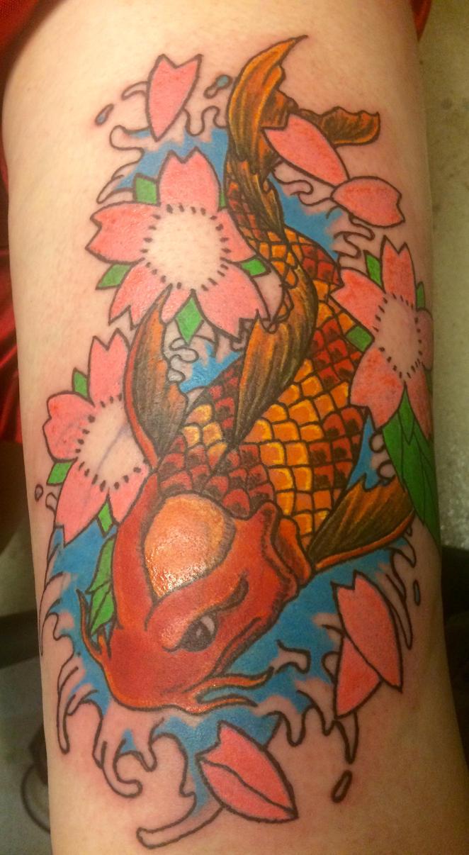 Koi tattoo by tat2tiger