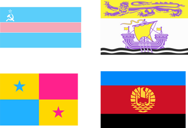 Some queer flags