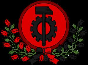 Syndicalist heraldry