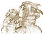 Sketch - ISFJ with Warm Beverage
