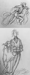 Sketchdump - These two again by Lear-is-not-amused
