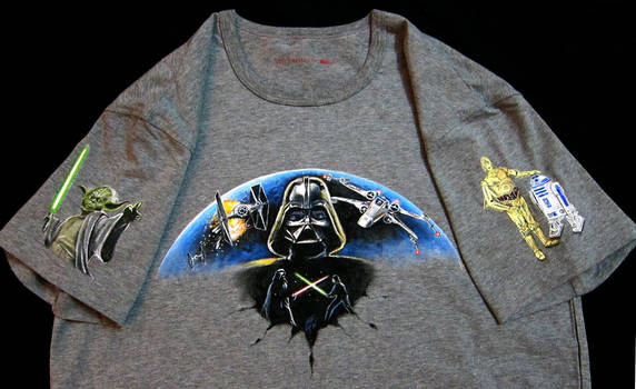 Painted `SW' T-shirt