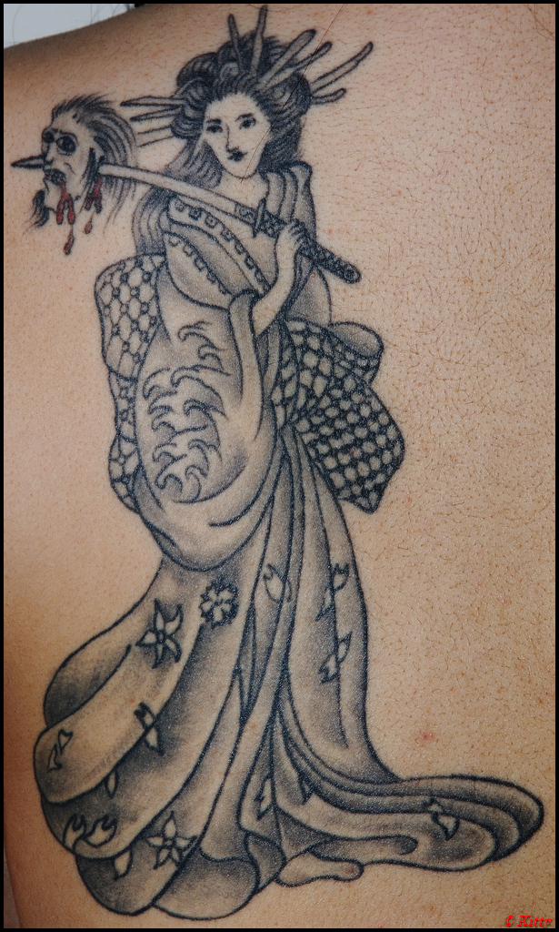 Geisha - Tattoo - shoulder tattoo