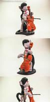 Octavia's Cello Suite No.1 by dustysculptures
