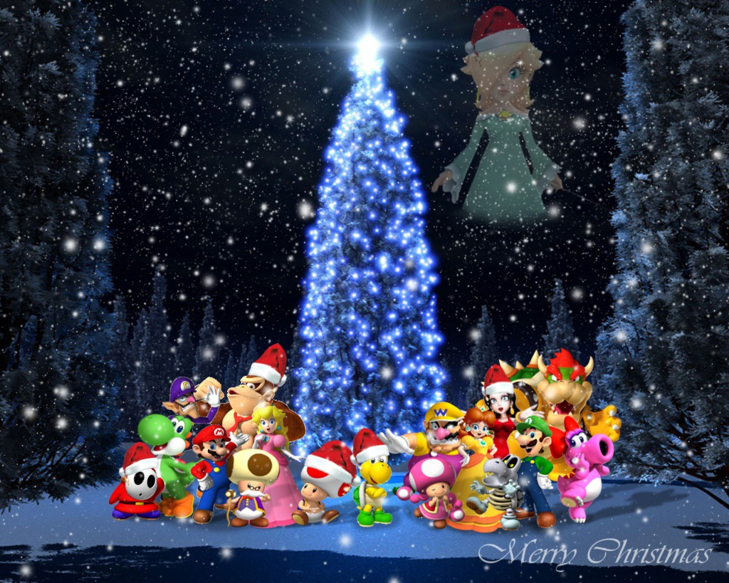 Super Mario Christmas Wallpaper by 1KamZ on DeviantArt
