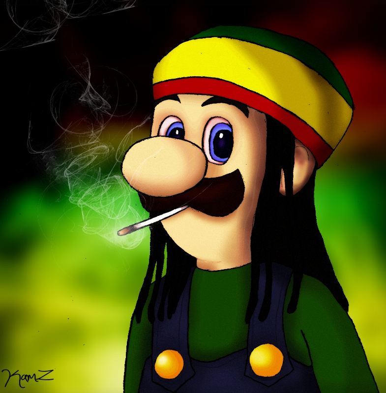 Rasta Luigi by 1KamZ on DeviantArt