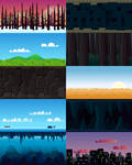 Side Scrolling Game Backgrounds [Updated] by hamdirizal