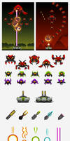 Alien Invaders Game Assets