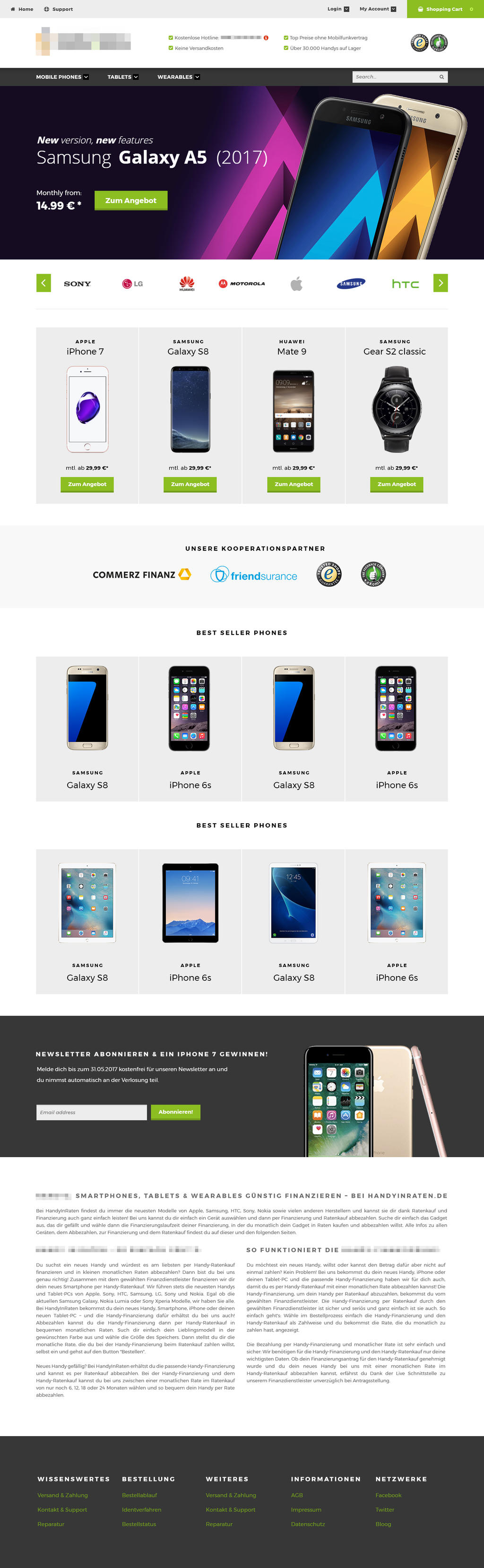 Mobile phone shop e commerce homepage design by hamdirizal for Homepage shop