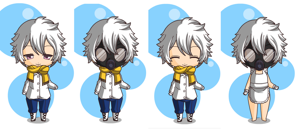 My chibi dmmd clear's by laura0531 on DeviantArt