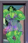 Very muscular She-Hulk by GeckUP