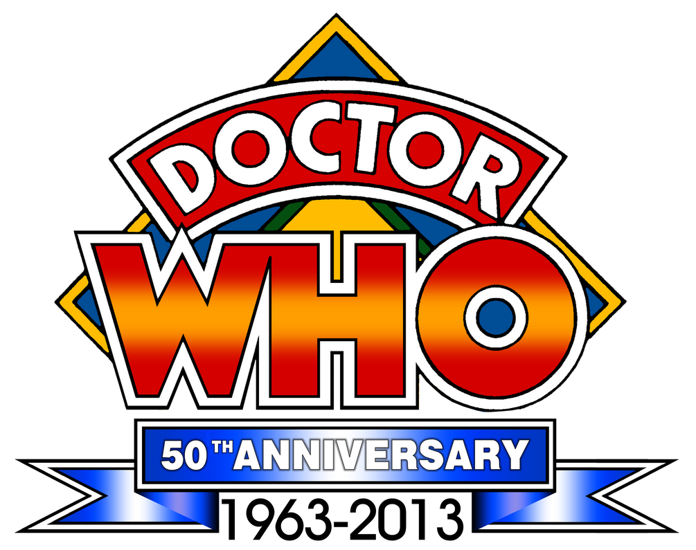 Doctor Who 50th Anniversary Retro Diamond Logo by theDoctorWHO2