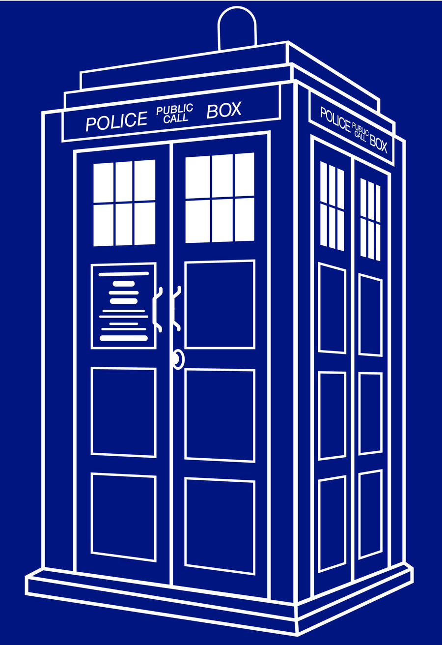Tardis Vector Black And White Tardis blue by danielasynnerTardis Vector Outline