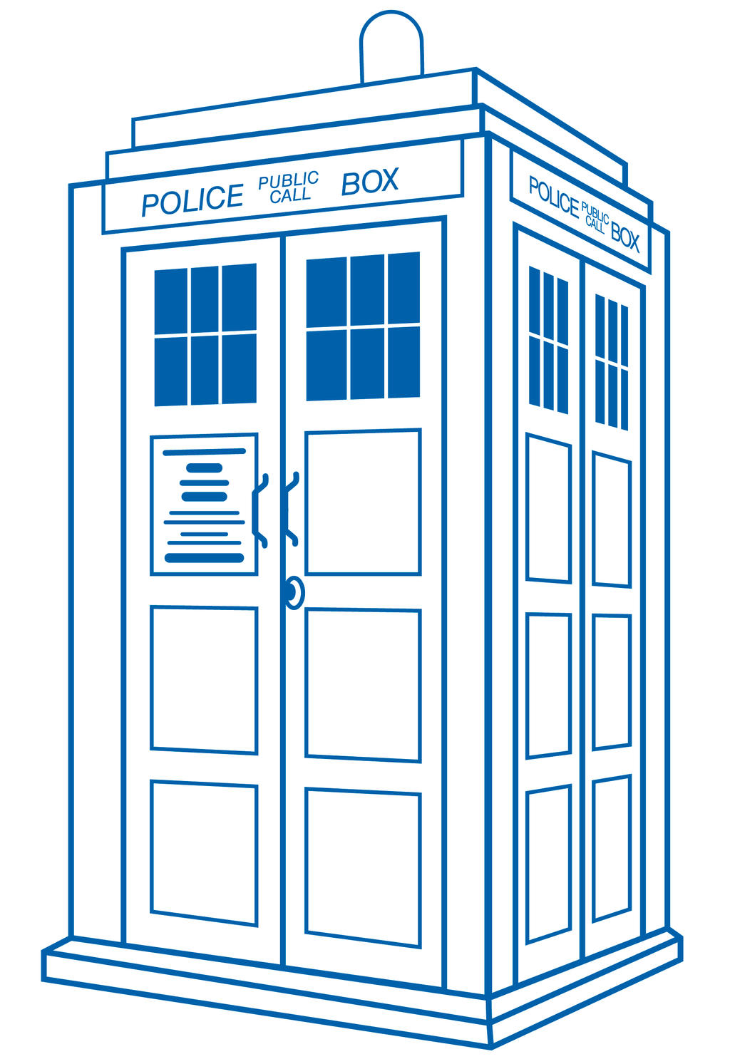 Doctor Who Clip Art Tardis Tardis white by danielasynnerTardis Vector Outline