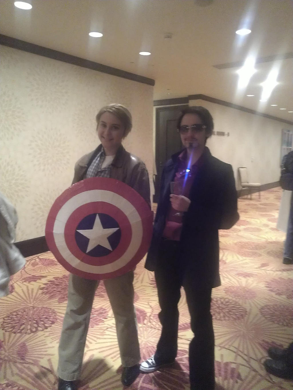 Zenkaikon 2013 Captain America and Tony Stark by Shadowamarilis