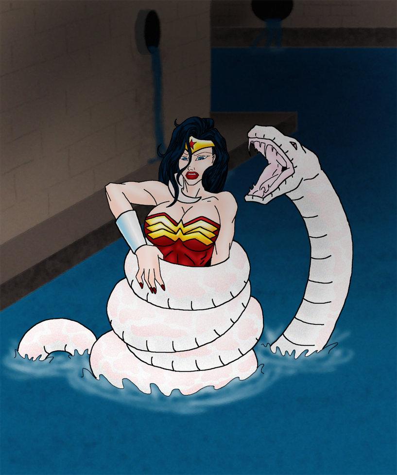 Wonder Woman in Snake Peril by ZorzsLadies on DeviantArt