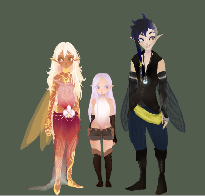 Trio Line Up by Chiirei