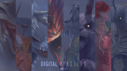Digital Monsters Wallpaper