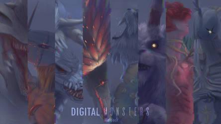 Digital Monsters _Glitch_ wallpaper by Maldock
