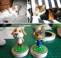 Animal Crossing makeover! Sam and Sun by brackenhawk