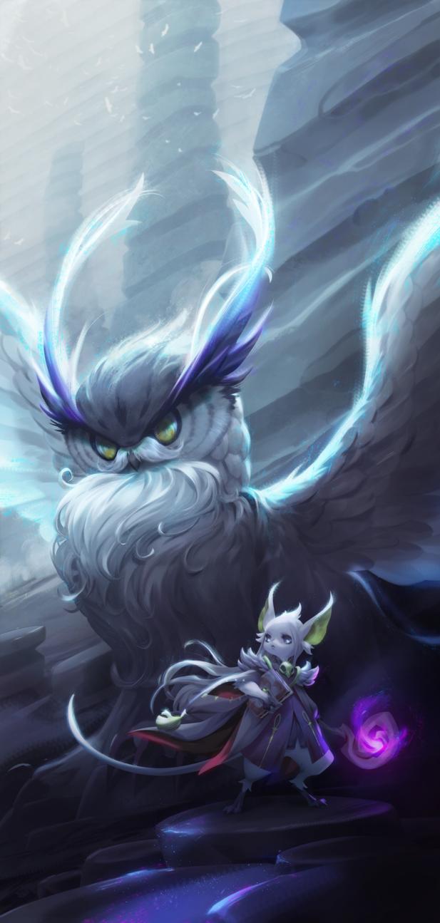 Mouse And Owl by tudvaseva-sasha