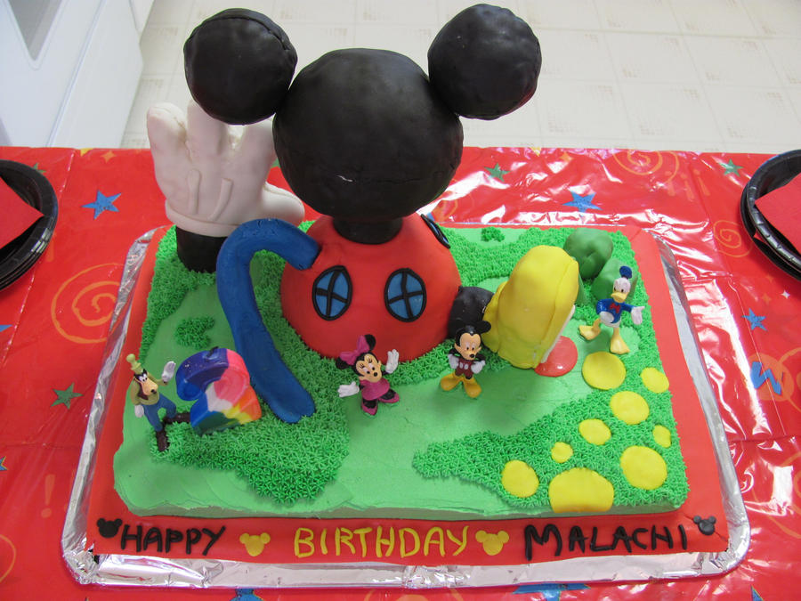 Mickey Mouse Clubhouse Cake By Sabathamk On Deviantart