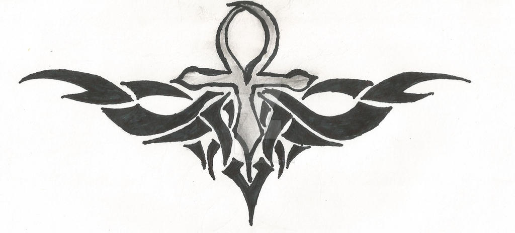 5c61ce3acc79e Tribal Ankh Tattoo Design by cuppycake5075 on DeviantArt