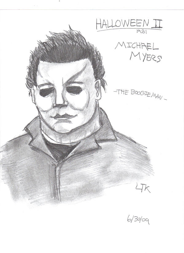 How to draw micheal myers