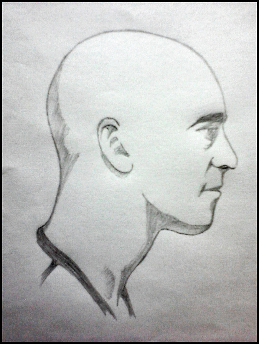 how to draw the side view of a face
