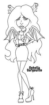 Ophelia Gargouille - Monster High OC - Line Art