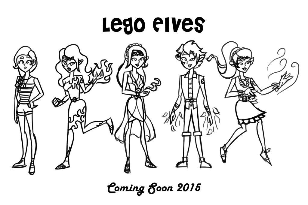 lego elves characters uncolored by theaproject on deviantart
