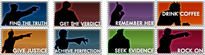 Ace Attorney Stamp Set by Ph0enix-Wright