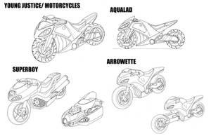 Young Justice Motorbikes by alexanderkubalsky