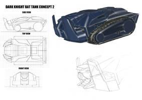 Batman Bat Tank Concept Design by alexanderkubalsky