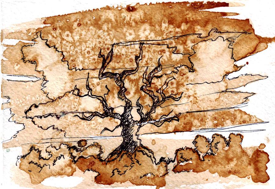 Coffee tree by Silvergrin-W