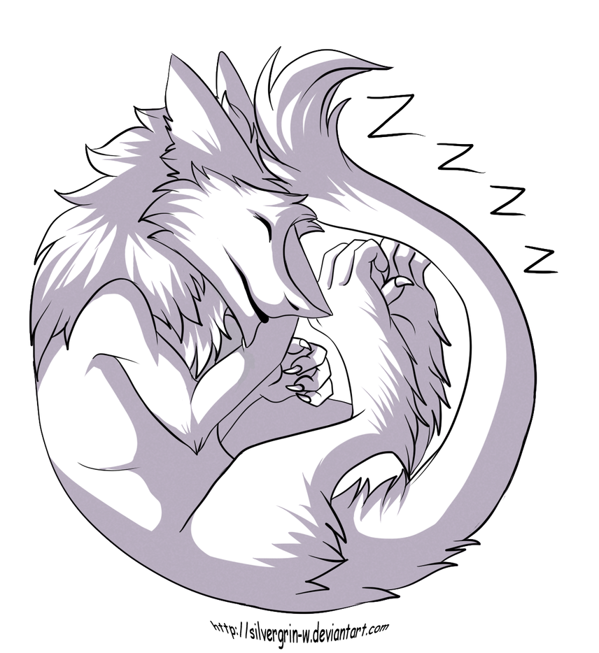 Sleep sergal: free line by Silvergrin-W