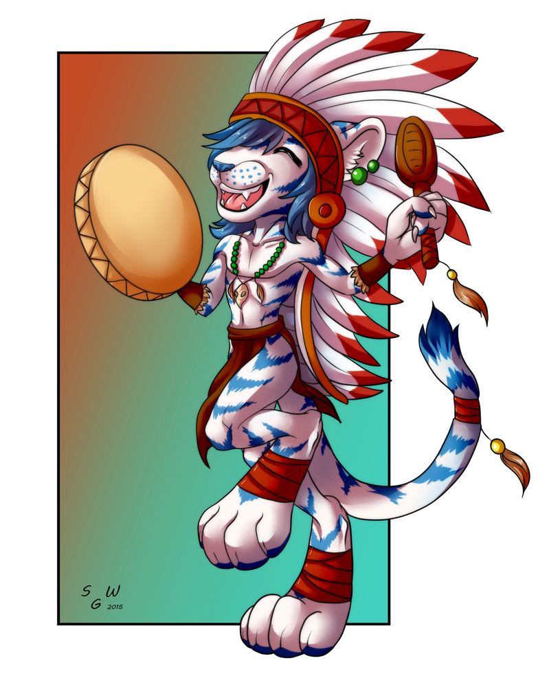 little shaman by SilvergriN-w