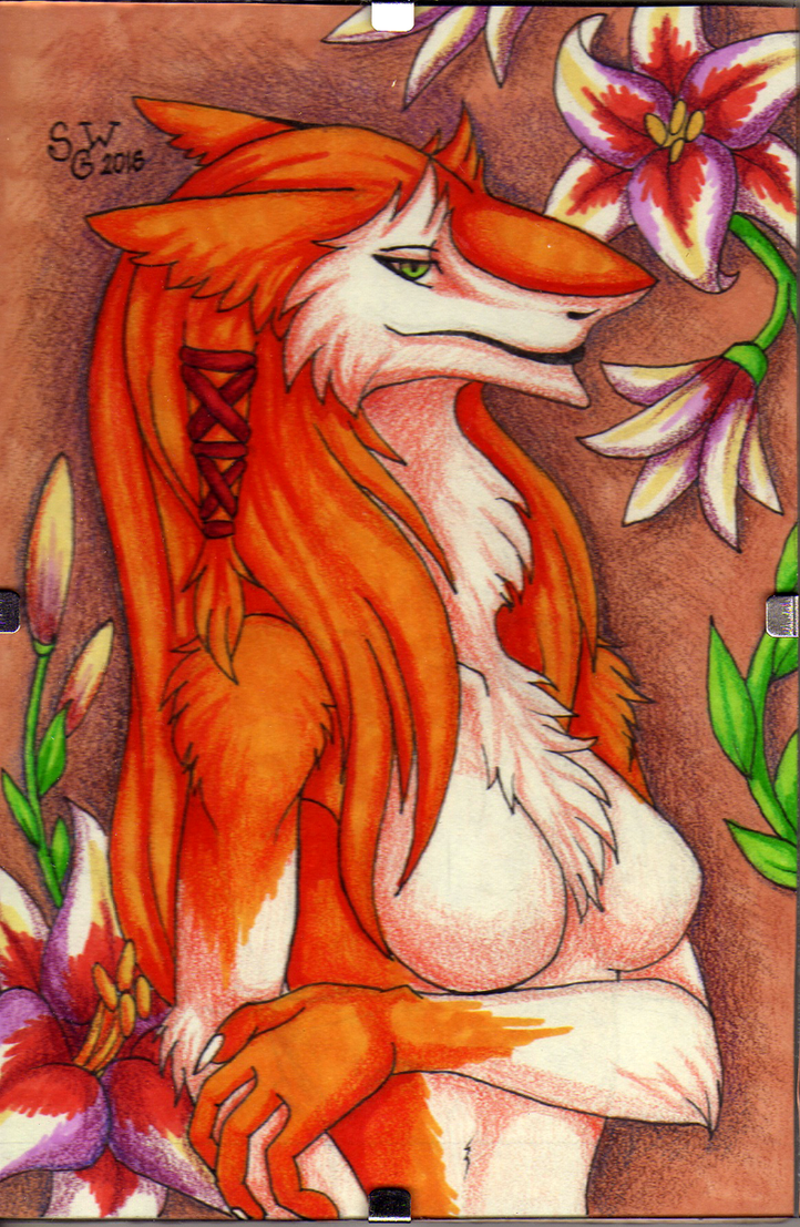 Sergal and lilies by SilvergriN-w