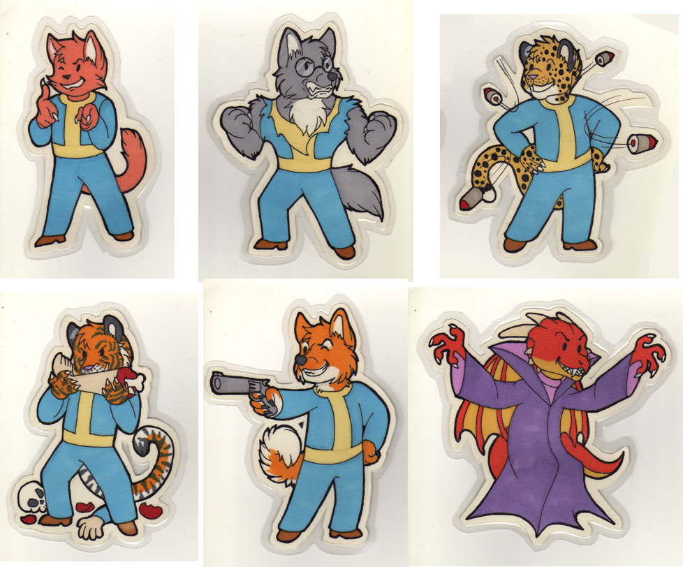 Vault Boy magnets by SilvergriN-w
