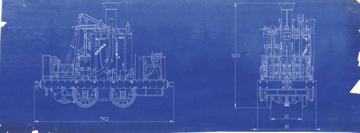 0-4-0 Atlantic ''Grasshopper'' Blueprint