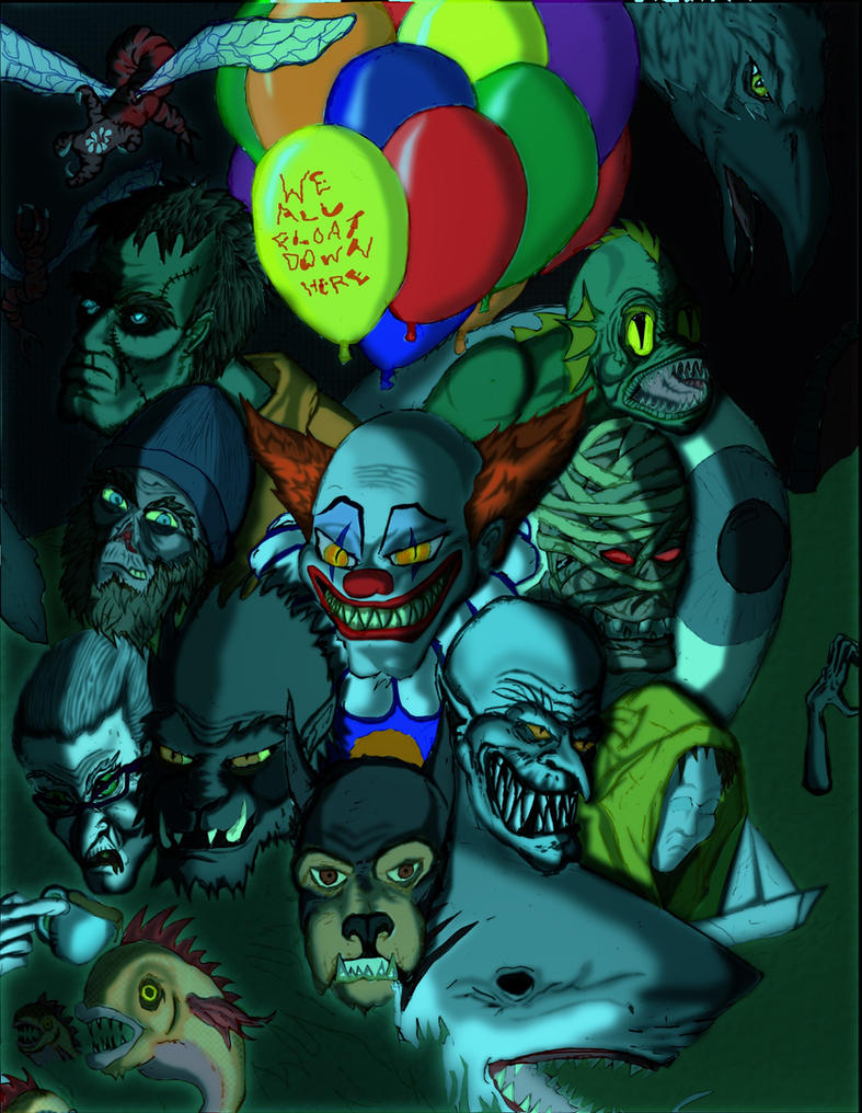 the many faces of pennywise by creeper113 on the many faces of pennywise by creeper113